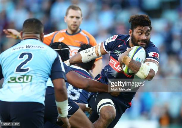 Amanaki Mafi of the Rebels in action during the round 13 Super Rugby match between the Waratahs and the Rebels at Allianz Stadium on May 21 2017 in...
