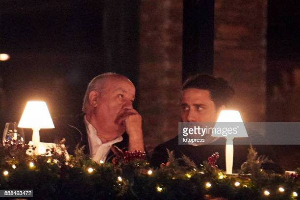 Amancio Ortega and Carlos Torretta attend during CSI Casas Novas Horse Jumping Competition on December 8 2017 in A Coruna Spain