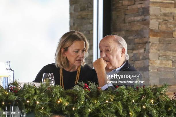 Amancio Ortega and Flora Perez attend CSI Casas Novas Horse Jumping Competition on December 8 2018 in A Coruna Spain