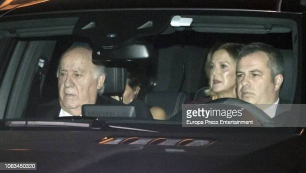 Amancio Ortega and Flora Perez attend the Marta Ortega and Carlos Torretta's wedding party at Casas Novas Horse Club on November 17 2018 in Arteixo...