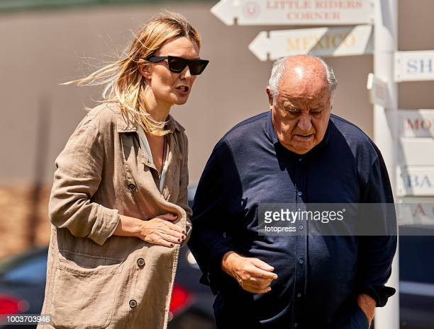 Amancio Ortega and Marta Ortega attend during CSI Casas Novas Horse Jumping Competition on July 22 2018 in A Coruna Spain