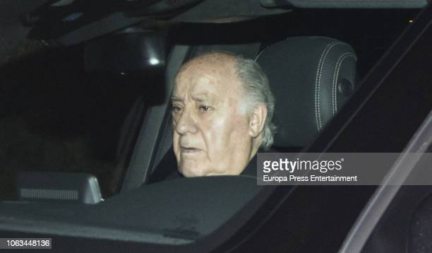 Amancio Ortega attend the Marta Ortega and Carlos Torretta's wedding party at Casas Novas Horse Club on November 17 2018 in Arteixo Spain
