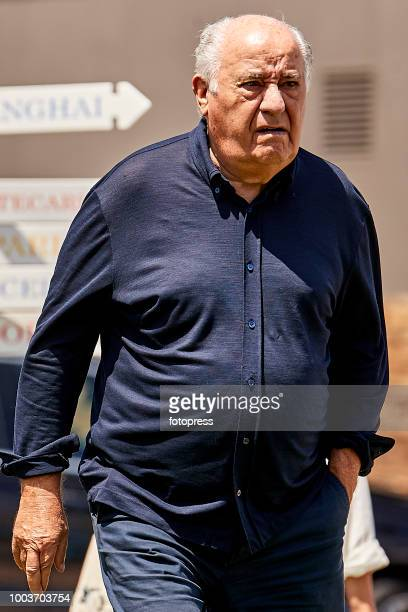Amancio Ortega attends during CSI Casas Novas Horse Jumping Competition on July 22 2018 in A Coruna Spain