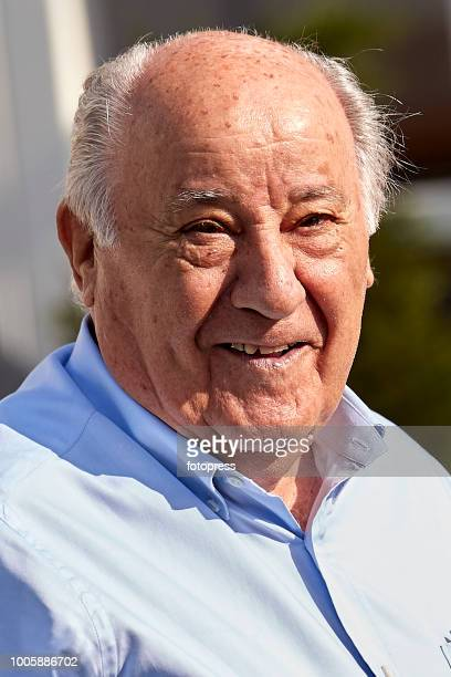 Amancio Ortega attends during CSI Casas Novas Horse Jumping Competition on July 20 2018 in A Coruna Spain