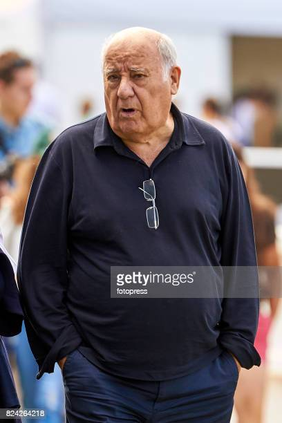 Amancio Ortega attends during CSI Casas Novas Horse Jumping Competition on July 29 2017 in A Coruna Spain