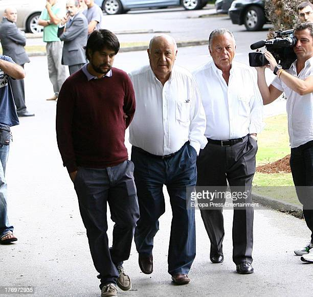 Amancio Ortega attends the funeral for Rosalia Mera richest Spanish woman and Amancio Ortega's ex wife and one of Zara clothes shop's founders on...