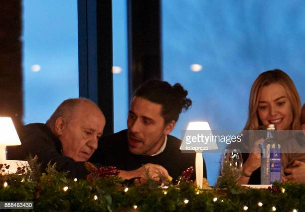 Amancio Ortega Carlos Torretta and Marta Ortega attend during CSI Casas Novas Horse Jumping Competition on December 8 2017 in A Coruna Spain