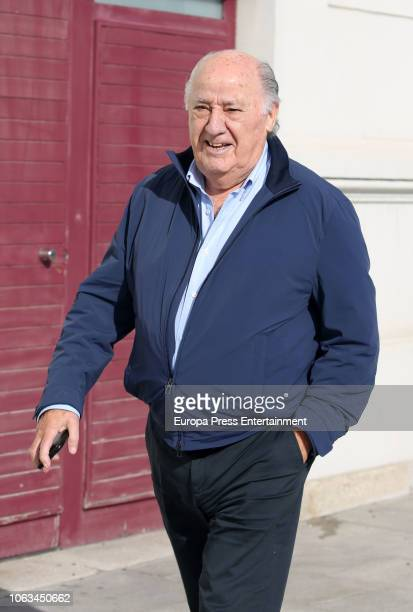 Amancio Ortega is seen on November 17 2018 in A Coruna Spain