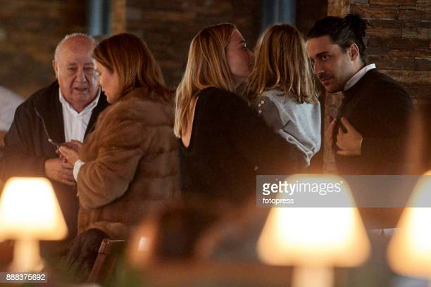 Amancio Ortega Marta Ortega and Carlos Torretta attend during CSI Casas Novas Horse Jumping Competition on December 8 2017 in A Coruna Spain