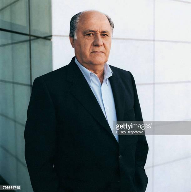 Amancio Ortega, owner of the INDITEX group in INDITEX's headquarters in La Coruna.