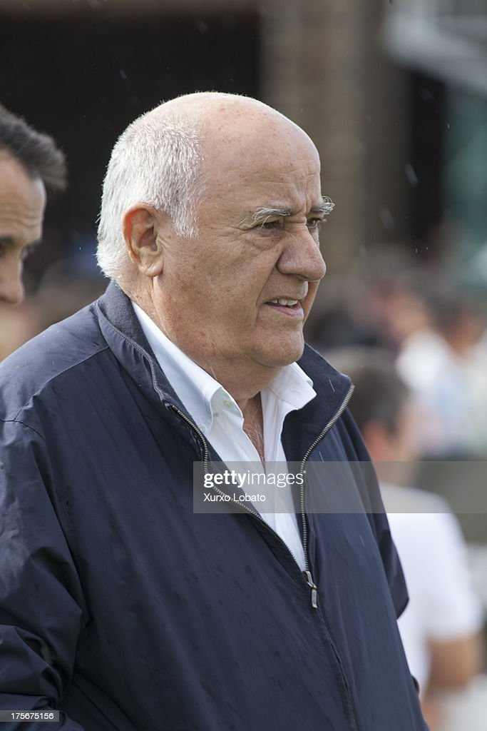 Amancio Ortega, owner of Zara empire, attend CSI Casas Novas Horse Jumping Competition 2013 near Arteixo on July 27, 2013 in A Coruna, Spain.