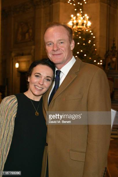 Amanda Abbington and Alistair Petrie attend the Cancer Research UK St Paul's Carol Concert at St Paul's Cathedral on December 10 2019 in London...