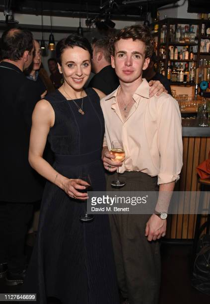 Amanda Abbington and Laurie Kynaston attend the press night after party for The Son at The Kiln Theatre on February 26 2019 in London England