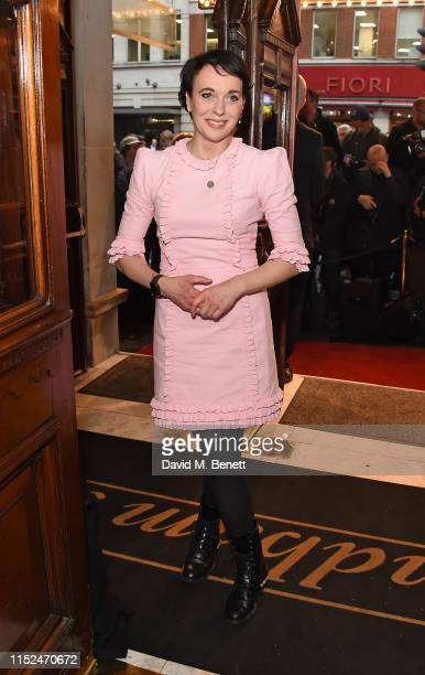 Amanda Abbington arrives at the press night performance of The Starry Messenger at Wyndhams Theatre on May 29 2019 in London England