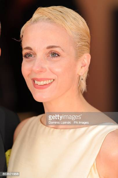 Amanda Abbington arriving for the 2014 Arqiva British Academy Television Awards at the Theatre Royal Drury Lane London