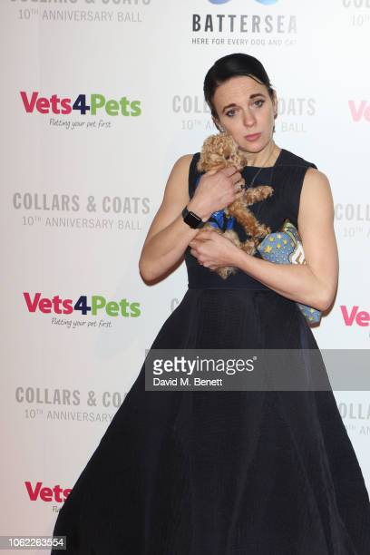 Amanda Abbington attends the Battersea Dogs Cats Home Collars Coats Gala Ball 2018 at Battersea Evolution on November 01 2018 in London England