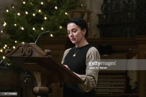 Amanda Abbington attends the Cancer Research UK St Paul's Carol Concert at St Paul's Cathedral on December 10 2019 in London England
