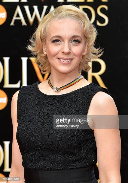 Amanda Abbington attends The Olivier Awards at The Royal Opera House on April 12 2015 in London England