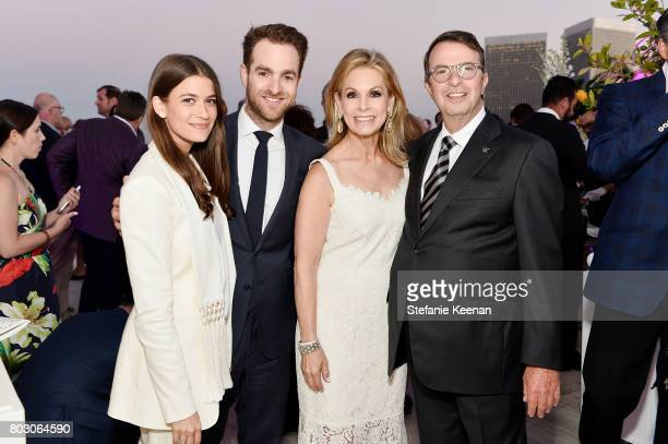 Amanda Alagem David Alagem Adele Alagem and Beny Alagem attend Waldorf Astoria Beverly Hills Grand Opening Cocktail Celebration on June 28 2017 in...