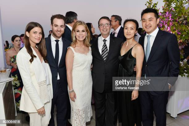 Amanda Alagem David Alagem Adele Alagem Beny Alagem Janice Wang and Eddie Wang attend Waldorf Astoria Beverly Hills Grand Opening Cocktail...