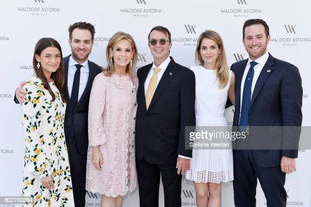 Amanda Alagem Jonathan Alagem Adele Alagem Beny Alagem Alexis Alagem and David Alagem attend Waldorf Astoria Beverly Hills Grand Opening Celebration...