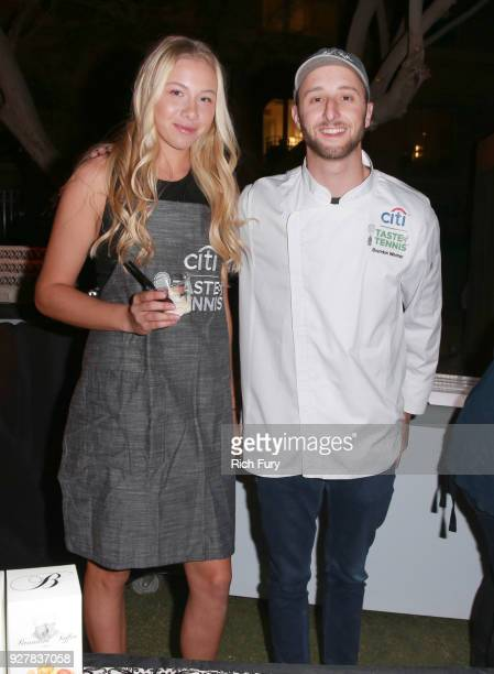 Amanda Anisimova and Chef Brandon Weimer attend the Citi Taste of Tennis at Hyatt Regency Indian Wells Resort Spa on March 5 2018 in Indian Wells...