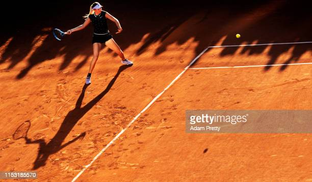 Amanda Anisimova of The United States during her ladies singles third round match against IrinaCamelia Begu of Romania during Day seven of the 2019...