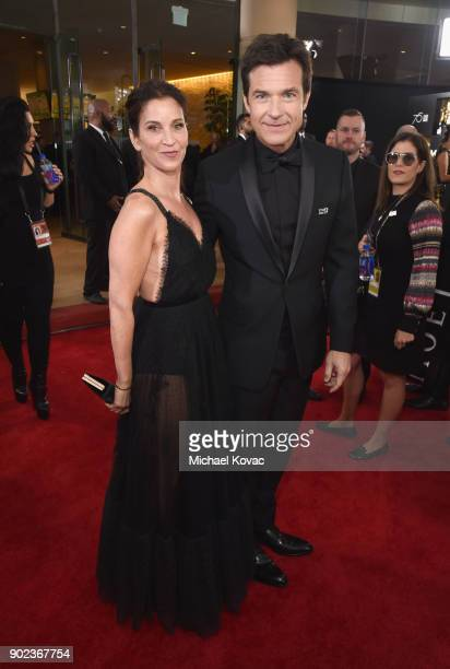 Amanda Anka and actor Jason Bateman celebrate The 75th Annual Golden Globe Awards with Moet Chandon at The Beverly Hilton Hotel on January 7 2018 in...