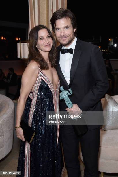 Amanda Anka and Jason Bateman attend Netflix 2019 SAG Awards after party at Sunset Tower Hotel on January 27 2019 in West Hollywood California