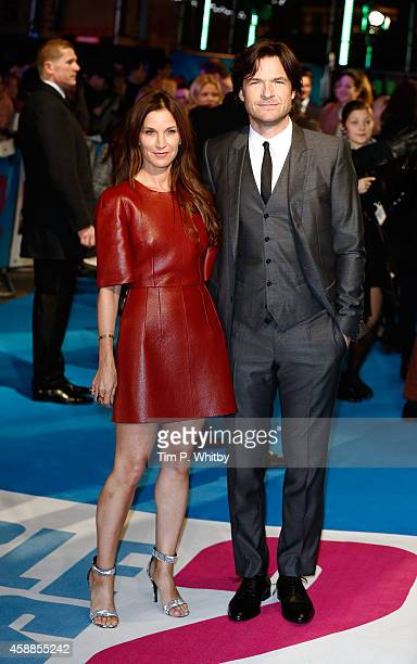 Amanda Anka and Jason Bateman attend the UK Premiere of Horrible Bosses 2 at Odeon West End on November 12 2014 in London England