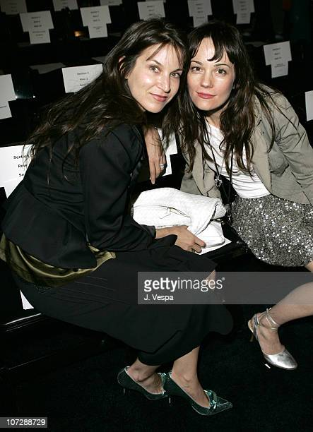 Amanda Anka and Natasha Gregson Wagner during MercedesBenz Fall 2005 LA Fashion Week at Smashbox Studios Jenni Kayne Front Row at Smashbox Studios in...