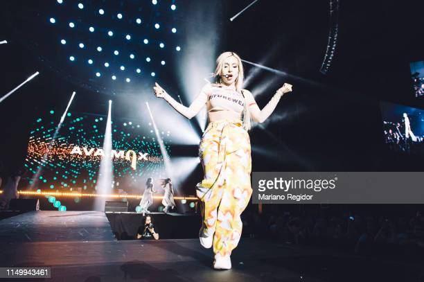 Amanda Ava Koci aka Ava Max performs on stage during LOS40 Primavera Pop festival at Madrid WiZink Center on May 17 2019 in Madrid Spain