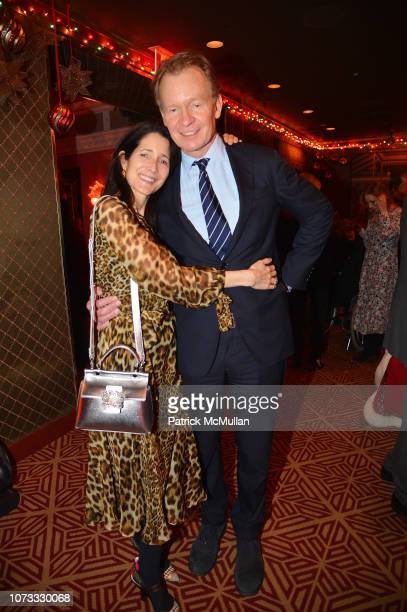 Amanda Bacon and Zack Bacon attend George Farias Anne Jay McInerney Host A Holiday Party at The Doubles Club on December 13 2018 in New York City