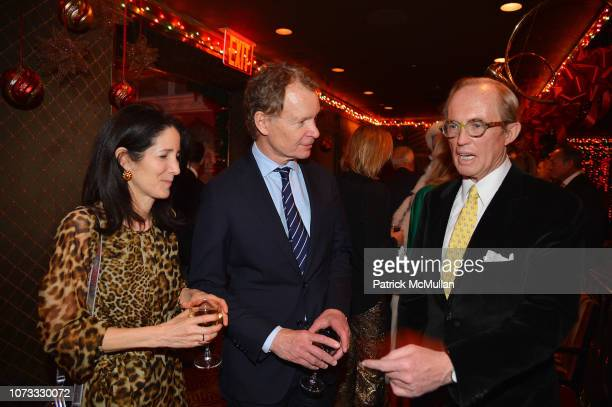 Amanda Bacon Zack Bacon and Mark Gilbertson attend George Farias Anne Jay McInerney Host A Holiday Party at The Doubles Club on December 13 2018 in...