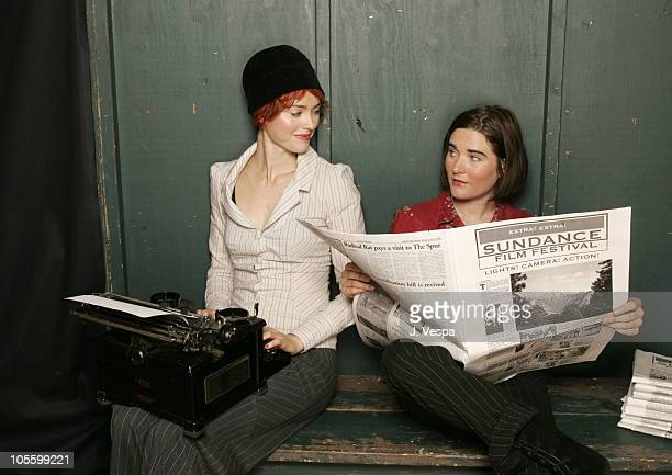 Amanda Barrett and Abby DeWald of The Ditty Bops during 2005 Sundance Film Festival The Ditty Bops Portraits at HP Portrait Studio in Park City Utah...
