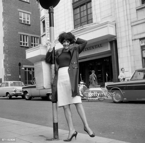 Amanda Barrie Actress pictured ahead of her performance in the comedy 'A Publish Mischief' in Blackpool The play heads to London in May 1965 Co stars...