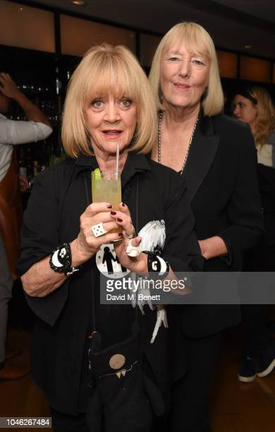 Amanda Barrie and Hilary Bonner attend a party celebrating ten years of The Club at The Ivy on October 5 2018 in London England
