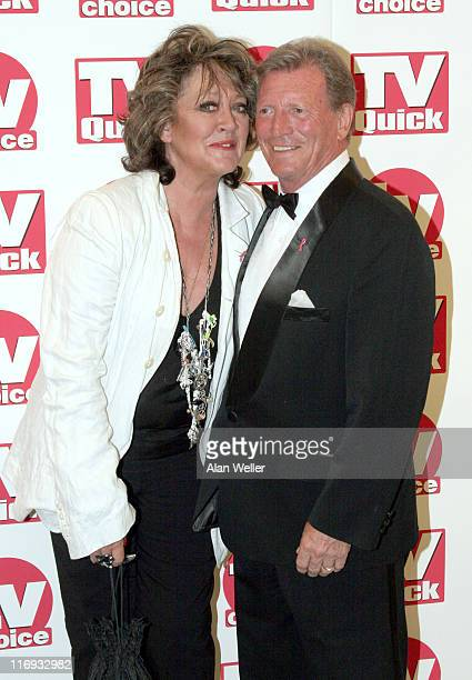 Amanda Barrie and Johnny Briggs during TV Quick Awards TV Choice Awards Inside Arrivals at The Dorchester in London Great Britain