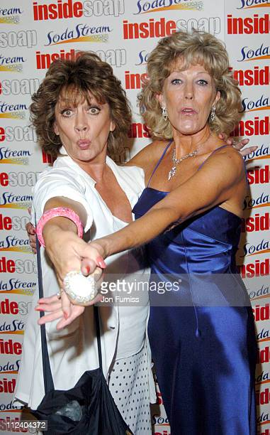 Amanda Barrie and Sue Nichols during The Inside Soap Awards 2004 Press Room at La Rascasse Cafe Grand Prix in London Great Britain
