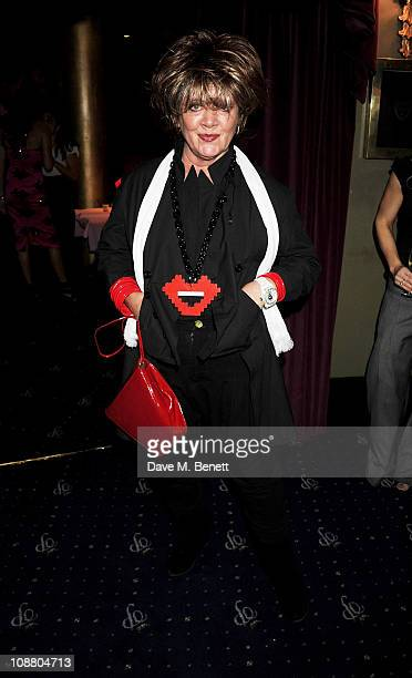 Amanda Barrie attends an after party for Leslie Jordan's 'My Trip Down The Pink Carpet' at The Cafe de Paris on February 3 2011 in London England