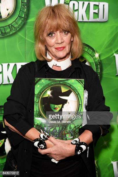 Amanda Barrie attends the after show party celebrating the new cast of hit musical Wicked ahead of its 11th birthday at Park Plaza Hotel on September...