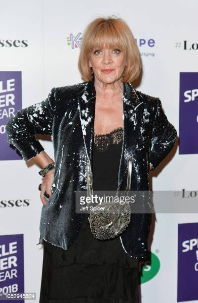 Amanda Barrie attends the Specsavers 'Spectacle Wearer Of The Year' at 8 Northumberland Avenue on October 24 2018 in London United Kingdom