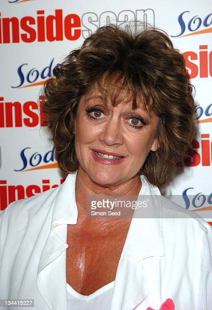 Amanda Barrie during 2004 Inside Soap Awards Press Room at La Rascasse Cafe Grand Prix in London Great Britain