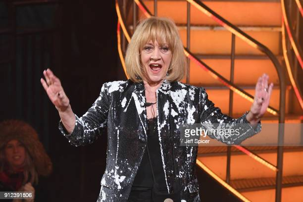 Amanda Barrie during the Celebrity Big Brother eviction at Elstree Studios on January 30 2018 in Borehamwood England
