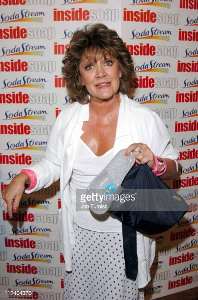 Amanda Barrie during The Inside Soap Awards 2004 Press Room at La Rascasse Cafe Grand Prix in London Great Britain