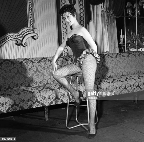 Amanda Barrie from Manchester is photographed at Winston's Club 14th February 1957