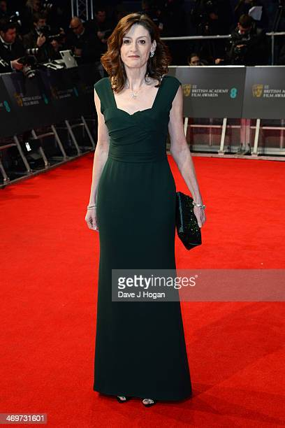 Amanda Barry attends the EE British Academy Film Awards 2014 at The Royal Opera House on February 16 2014 in London England
