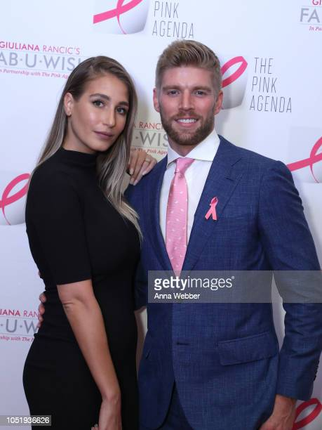 Amanda Batula and Kyle Cooke attend The Pink Agenda's Annual Gala at Tribeca Rooftop on October 11 2018 in New York City