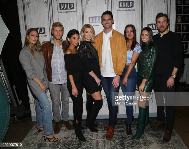 Amanda Batula Kyle Cook Jules Daoud Lindsay Hubbard Carl Radke Hannah Berner and Luke Gulbranson attend Build Series to discuss the new season of...