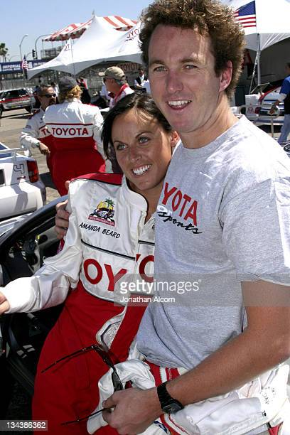 Amanda Beard and Aaron Peirsol at practice preparing for the upcoming 2005 Toyota Pro/Celebrity Race at the Toyota Grand Prix of Long Beach...
